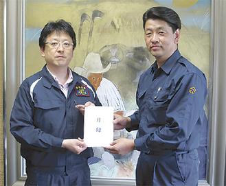 大西熊本市長(左)と加藤市長