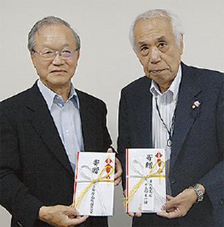 両団体代表の小野康夫樫友会会長