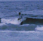 日が暮れるまで波に乗る