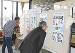 会場では全国に分布する金次郎像の写真も紹介された