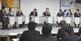 コメンテーターに松沢議員が参加