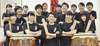 和太鼓部のメンバー