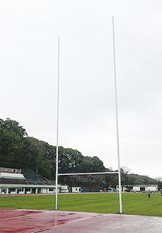 試験的に設置されたラグビーゴール