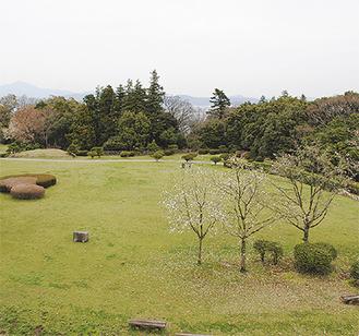 石垣山城の二の丸跡