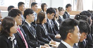 東南アジア出身者が多い新入生