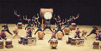 夏の全国大会にも出場する高校和太鼓部