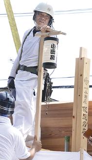 報徳二宮神社の立柱祭で=8月30日