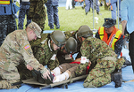 自衛隊と在日米軍が連携した救助訓練