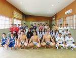 大相撲小田原場所−地域ボランティア活動に参加した旭丘高校運動クラブの代表