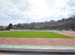 改修された城山陸上競技場