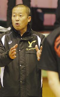 男子県代表の原野監督