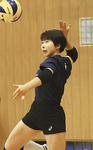 女子県代表の金光選手