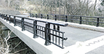 欄干などを新調した金時平橋