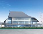 昨年12月に決定した市民ホールのデザイン案