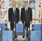 椎野理事長(右)と小野会長