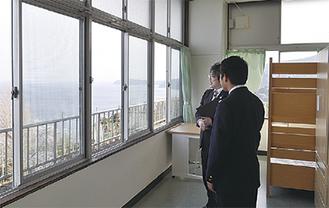 海を一望する寄宿舎
