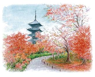 出展予定の杉崎早苗さんの作品「燃える秋」