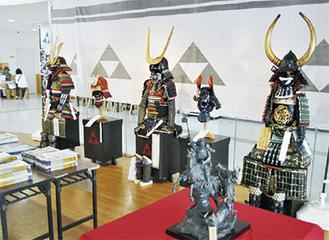 展示中の手作り甲冑