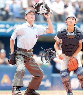 自身初の開幕試合の球審を務めた湯川さん
