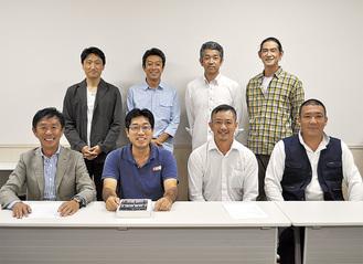 小高会長(前列右から2番目)と第2支部のメンバー