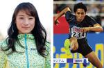 松下祐樹選手(右・写真提供=ミズノ)と山内愛選手(写真提供=長谷川体育施設)