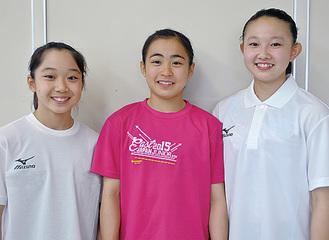 (左から)蛭海和さん、辻前綾里さん、柏木淑里さん
