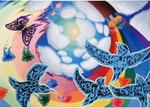 表紙原画に採用された岡本さんの作品