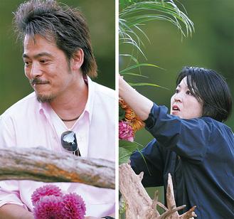 出崎徹さんと斑目茂美さん(写真は花いけバトルのときのもの)