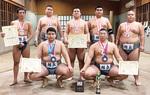 心・技・体の相撲道に邁進する相撲部。チョイジルスレン君とダライバートル君(前列)は世界ジュニアでモンゴル代表として準優勝にも貢献した