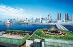豊洲市場・千客万来施設の屋上から晴海埠頭を望む(イメージ)
