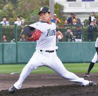 プロ初実戦を三者凡退で抑えた福田投手
