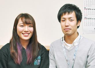 写真は高山さん(左)と向田コーチ