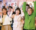女性候補トップの楊氏(中央)