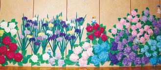 児童コーナーを彩る作品(昨年のもの)
