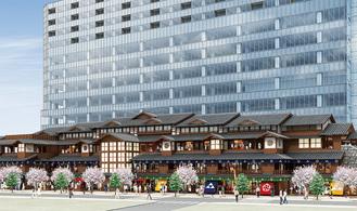 再開発ビルの完成イメージ