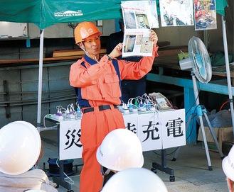 関心を集めたLPガスによる発電装置