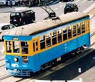 長崎市内を走っていた当時の車両
