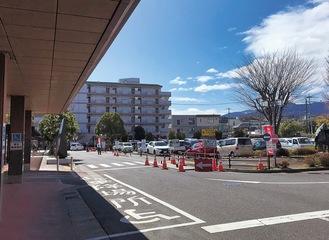 工事が進む駐車場