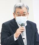 総会であいさつする石田会長