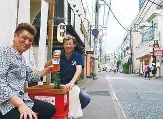 飲食店前の路面に設置される、店頭席のイメージ