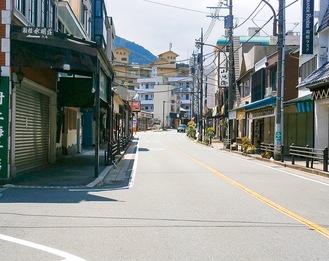 緊急事態宣言発令中の箱根湯本(5月1日撮影)