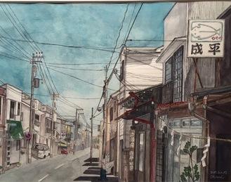 かまぼこ通りをを描いた作品