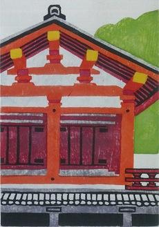 展示作品のひとつ「奈良百点」-120東院(平城宮跡)