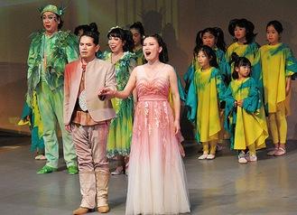 飯田さんが指導する小田原ジュニアオペラの子どもたちも出演