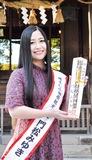 報徳二宮神社にヒット祈願に訪れた門松さん