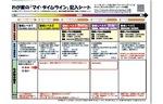 小田原市のマイ・タイムライン記入シート