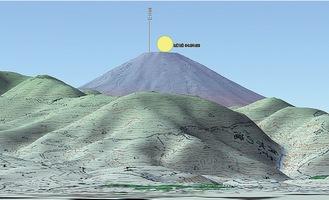 パール富士の想定図=渋谷義一さん提供