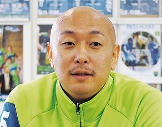 当紙インタビューに答える久光選手(16年)