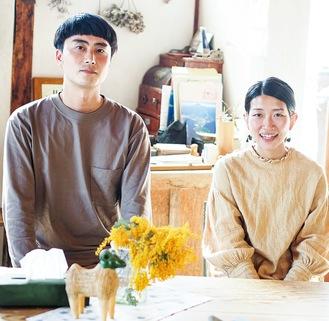 古民家を改装したオフィス兼宿泊施設を拠点に活動する川口さん夫妻