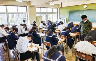 酒匂中学校での実施の様子(4月26日)